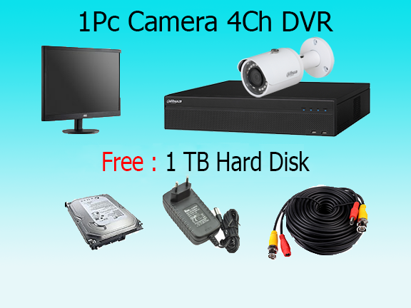 1 High Resolution Camera Package with Monitor