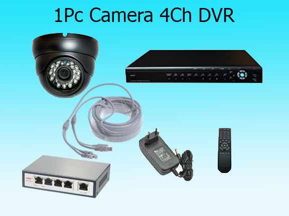 1 High Resolution Camera with Cloud Based Monitoring System