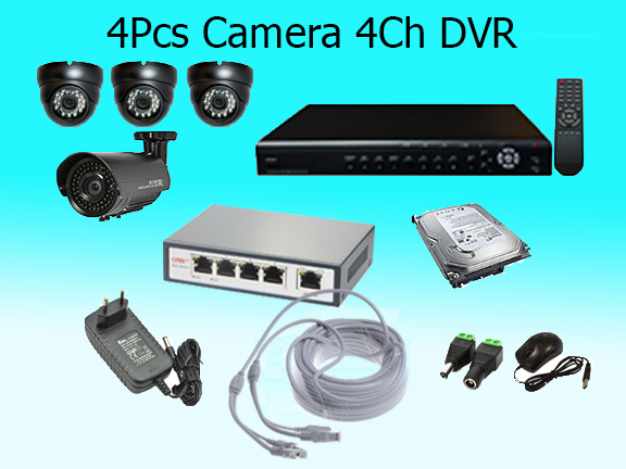 4 High Resolution Cameras with Cloud Based Monitoring System