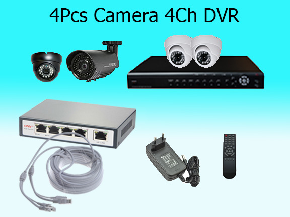 4 High Resolution Cameras with Cloud Based Monitoring System (2)